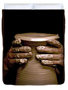 Creation At The Potter's Wheel Duvet Cover by Rob Travis