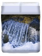 Creek In Mount Rainier National Park Duvet Cover