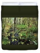 Creek In The Rain Forest Duvet Cover