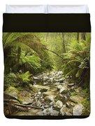 Creek Running Through The Rainforest Duvet Cover
