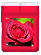 Crimson Red Rose Duvet Cover by Karon Melillo DeVega