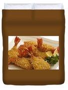 Crispy Fried Prawns Duvet Cover