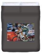 Criterium Bicycle Race 2 Duvet Cover