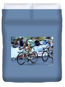 Criterium Bicycle Race 3 Duvet Cover