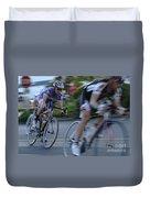 Criterium Bicycle Race 4 Duvet Cover