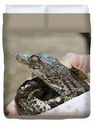 Crocodile And Alligator Breeding Farm  Duvet Cover