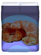 Croissants In Love Duvet Cover