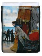 Cross Atlantic Voyage Duvet Cover by Henry Bacon