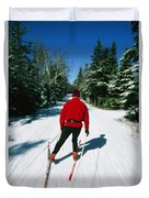 Cross-country Skiing, Lake Placid, New Duvet Cover
