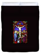 Cross Stained Glass Duvet Cover