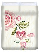 Cross Stitch Flower 1 Duvet Cover