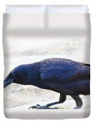 Crow Snacking Duvet Cover
