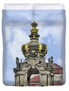 Crown Gate - Kronentor Zwinger Palace Dresden Duvet Cover by Christine Till