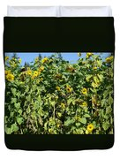 Crows In The Sunflowers Duvet Cover
