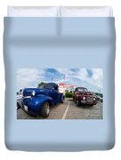 Cruise Night At The Diner Duvet Cover