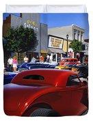 Cruising Main Street Duvet Cover