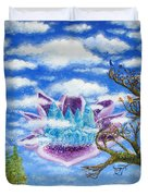 Crystal Hermitage Castle In The Clouds Duvet Cover
