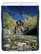 Crystal Mill In Autumn Duvet Cover