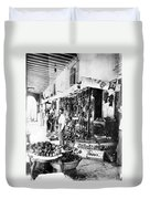 Cuba Fruit Vendor C1910 Duvet Cover