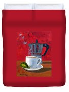 Cuban Coffee And Lime Red R62012 Duvet Cover