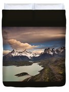 Cuernos Del Paine And Lago Pehoe Duvet Cover