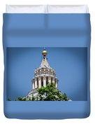 Cupola Atop St Peters Basilica Vatican City Italy Duvet Cover