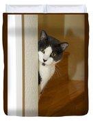Curious Cat Duvet Cover
