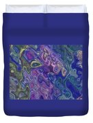 Curlyque Blue Abstract Duvet Cover