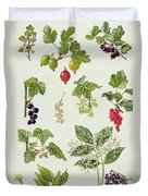 Currants And Berries Duvet Cover by Elizabeth Rice