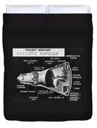 Cutaway Drawing Of The Project Mercury Duvet Cover