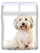 Cute Dog Portrait Duvet Cover