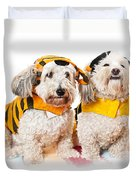 Cute Dogs In Halloween Costumes Duvet Cover