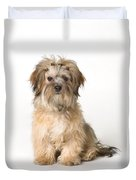 Cute Miniature Terrier Duvet Cover