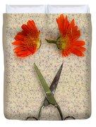 Cutting Flowers Duvet Cover