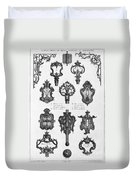 Cuvilli�s: Locks And Keys Duvet Cover