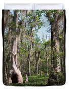 Cypress Trees And Water Hyacinth In Lake Martin Duvet Cover