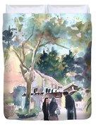 Cyprian Monastery Duvet Cover