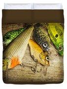 Dad's Fishing Crankbaits Duvet Cover