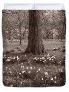 Daffodil Glade Number 2 Bw Duvet Cover