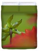 Dahlia Bud Back Side Duvet Cover