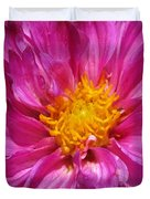 Dahlia Named Pink Bells Duvet Cover