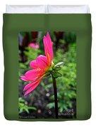 Dahlia Profile Duvet Cover