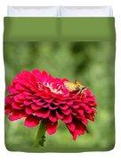 Dahlia's Moth Duvet Cover
