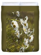 Daisies Blowin In The Wind Duvet Cover