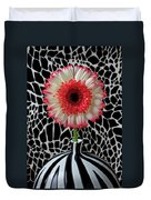 Daisy And Graphic Vase Duvet Cover