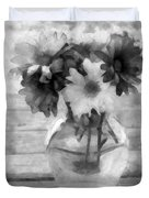 Daisy Crazy Bw Revisited Duvet Cover