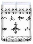 Daltons Symbols Duvet Cover