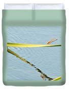 Damselfly Reflection Duvet Cover