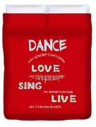 Dance Like Nobody's Watching - Red Duvet Cover by Georgia Fowler