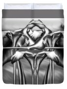 Dance Of The Black And White Calla Lilies Vi Duvet Cover